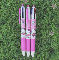 Wholesale New Product Box Hello Kitty ball pen Ball point pen Lovely Cartoon color Ballpoint pen Hot Stationery gift