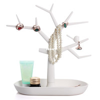 earring display stand - Multifunctional Tree Branch Shape White color Jewelry Display Earring Bracelet Necklace Ring Display stand for earrings