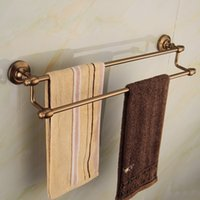 aluminum bronze bar - Aluminum Antique Bronze Double Towel Bar Bathroom Accessories bath towel holder sanitary ware F