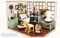 best wood furniture - Novelty DIY Wood Doll House Best of Time Dollhouse Creative D Miniature Dollhouse with Furniture Toys for Kid