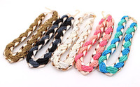Wholesale In Stock Women Bohemia Fashion Bead Collar Necklace Ladies All Matched Style Necklace Xmas Gift
