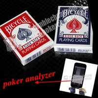 bicycle playing cards - XF USA Bicycle Side Playing Marked cards for Poker Analyzer Gambling Predictor Poker Scanning Analyzer Cheating in the Card Game