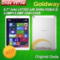 Wholesale Origianl Onda V975w quot Window Intel z3735D Quad Core Tablet PC GB GB Retina Screen Bluetooth HDMI