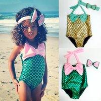 bathing suits baby girls - 2016 Hot Baby Girls the Little Mermaid Bikini Set Swimwear Swimsuit Bathing Suit Y