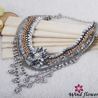 Cheap Popular Charm Accessories Alloy Statement Necklaces High Quality Acrylic Chain Jewelry 2014 Sale Best Western Women Costume Necklace