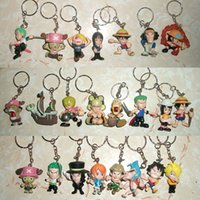 Cheap Wholesale-free shipping japan anime one piece keychain phone strap 23pc b2015