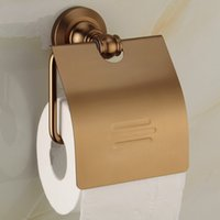aluminum paper towel holder - Wall Mounted New Bathroom Accessiores sets Aluminum Easy install Paper Holders Antique Bronze Finish paper towel holder