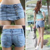 denim fabric - S Fashion Korean Women s Slim Blue Denim Fabric Jeans Shorts Pants