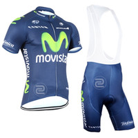 bike clothing - Team Movistar Cycling Jersey Cycling Clothing Short Sleeve Jersey Bib Shorts Pants Suit Tight Maillot Ropa Bike Clothing Breathable