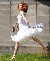 Wholesale Ladies Pettiskirt Skirts - Hot Sale Women Beautiful Ruffled Fluffy Chiffon White Pettiskirt Tutu Skirt Adult Size Lady Skirt
