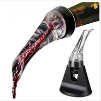 aerating tools - Eagle spout Quick Aerating red wine Pourer Decanter Red Wine Bottle Mini Travel Aerator Christmas gifts bar tools with giftbox