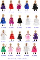 Wholesale flower styles Doll Dress Handmade Doll Clothes Skirt
