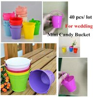 White mini bucket - 40Pcs Mini Candy Box festive and party candy bucket Wedding accessories Favors Boxes Candy Bucket for Wedding Decoration