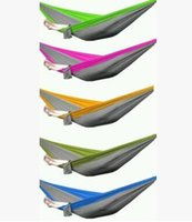 Wholesale Outdoor or Indoor Parachute Cloth Sleeping Hammock Camping Hammock high quality multicolor