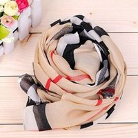 Wholesale Lovely Heart Lady Scarf Chiffon Long Style Soft Wrap Shawl Classic Scarves Hot sale