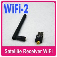 Wholesale 1PC Mini M USB WiFi With Antenna Wireless Network Card LAN Adapter for Skybox F3S F4S F5S V7 V8 V6