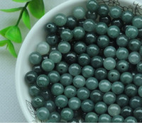 blue green jade - natural Burmese A grade natural jade Loose beads DIY accessories for string mm diameter color oil blue Yellow White Light green
