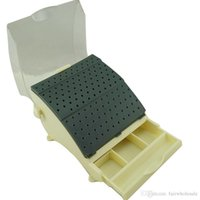 Wholesale Dental Bur Holder Burs Block Station with Pull out Drawer High Quality