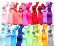 twist tie - Hot SALE Candy Color Ponytail Holders twist yoga Ribbon Elastic Bands Hair Ties Hair Accessories