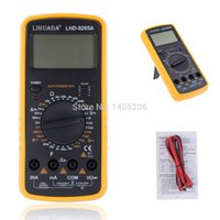 Wholesale DT9205A AC DC Digital LCD Display Electrical Handheld Tester Digital Multimeter digital professional Multimetro Meter Ammeter