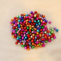 bell christmas lights - Colorful Iron Loose Beads Small Jingle Bells Christmas Decoration Pendants DIY Crafts Handmade Accessories TT24