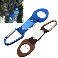 Wholesale Carabiner Water Bottle Holder Clip Camping Hiking Outdoor Travel Buckle Aluminum