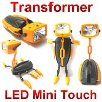 Wholesale multi function robot torch Variant robot flashlight Flashlight Houseware Noveltly