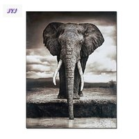 african style framed art - African Elephant Textured American Style Picture100 Handmade Modern Abstract Canvas Oil Painting Wall Art Gift No Framed DX009