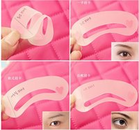 Wholesale Top selling Mini Brow Class Drawing Guide Eyebrow stencils Eyebrows aid eyebrow stencil makeup tools set