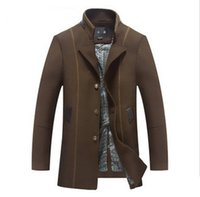 alpaca wool coats - Fall Mens short trench coat Alpaca coat wool coat men s fall winter wear new windbreaker jacket long trench coats for men C20