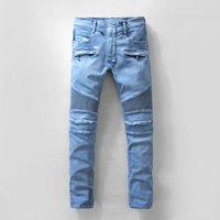 american season - balmain Biker Jeans Sale Rushed Slim Low Four Seasons Paragraph Balmain Jeans for Men Minimalist Europe Locomotive Pants
