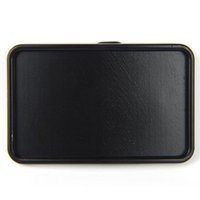 belt buckle blanks - SENMI Small Anodized Black Blank Belt Buckle Rectangle Add Your Own Design