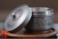 art caddy - Dragon universal pure tin tea caddy