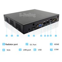 Wholesale Durable advanced embedded Industrial Mini PC Box Computer With All black aluminum alloy G DDR3 G SSD ITX Motherboard Inside