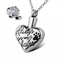 pit bull - Pit bull Dog Bulldog Paw Always in my heart Cremation Keepsake Memorial Pet Urn Pendant Necklace Jewelry