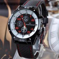 Wholesale 2015 GT Grand Touring Men sports watch luxury fashion sport man military watches Silicone Strap Quartz WristWatch watchband hot on ebay Best