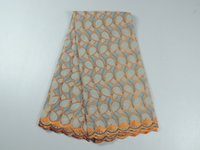 Wholesale African cotton lace fabric embroidery swiss voile lace fabric for dress yards CLZ21