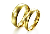 Wholesale cheap jewellery Gold plated lovers ring quot the supreme Lord of the rings quot wedding rings fashion jewelry in stock pairs TY