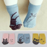 Wholesale 2015 Fall Winter New Cute Soft Toddler Baby Socks Cartoon Pattern Girls Boys Socks Infants Cotton Kids Socks Antiskid For Age Y