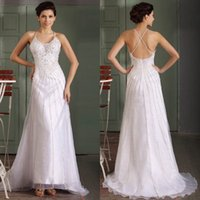 Wholesale Real Image High Quality Designer Glitter Evening Gowns White Organza Spaghetti Strap A line Formal Dress with Sparkling Rhinestones