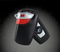 key cover - Genuine Leather Car Key Wallet Holder Bag Cover for BMW X1 X3 X6 Z4 M3 Keychain Key Ring Case with retail package DHL