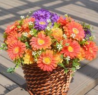 Wholesale colorful simulation vegetables and fruits silk artificial natural dry flowers Chrysanthemum bouquet for home direction TH130