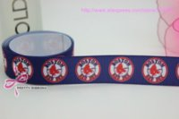 sports ribbon - new hot boston red sox sports printed grosgrain ribbon bow diy party decoration custom mm P390 M67570