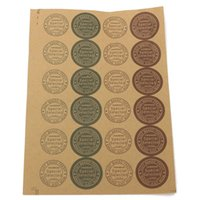 adhesive food labels - Customized Self adhesive Kraft Label For DIY Hand Made Food Cake Candy Paper Tags