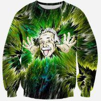 albert fashion - Albert Einstein sweatshirt D character hoodies harajuku men s clothes funny D print sportswear tracksuit for women men tops