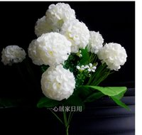 Wholesale Fake Hydrangea Flower cm Length heads piece Artificial Simulation Silk Hydrangea Bunch for Wedding Flowers