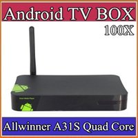 Cheap 100X best price High Quality Allwinner A31S Quad Core Hot Sell Cheapest Google Tv Player Smart Android TV BOX 512MB 8GB XBMC 1-D4