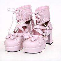 Wholesale Queen Lolita High Heels Shoe Lace Ornament Princess Shoes Code