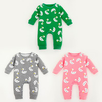 Wholesale 2015 Baby clothing Romper infant one piece newborn jumpsuits long sleeve velveteen gose duck kid clothes winter