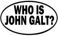 atlas shrugged - Drop shipping WHO IS JOHN GALT VINYL DECAL STICKER ATLAS SHRUGGED LIBERTARIAN AYN RAND OVAL